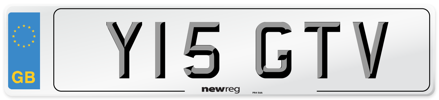Y15 GTV Number Plate from New Reg