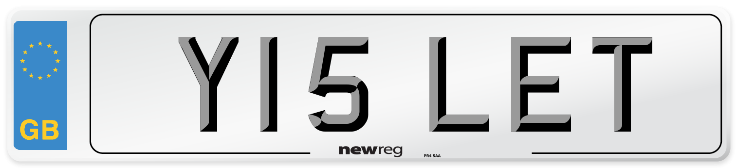 Y15 LET Number Plate from New Reg
