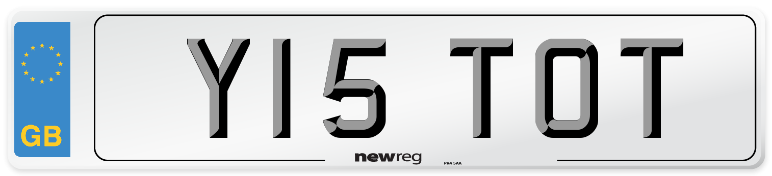Y15 TOT Number Plate from New Reg
