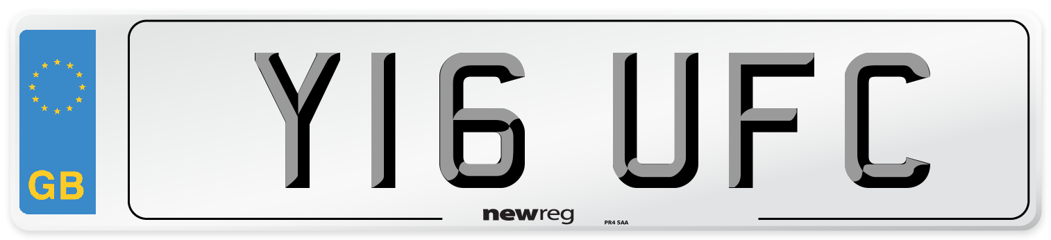 Y16 UFC Number Plate from New Reg