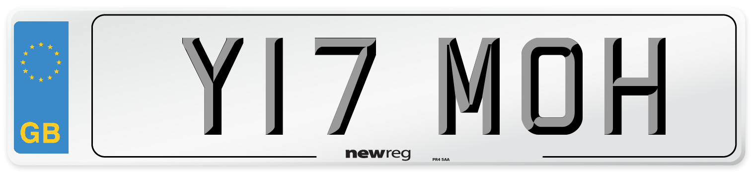 Y17 MOH Number Plate from New Reg