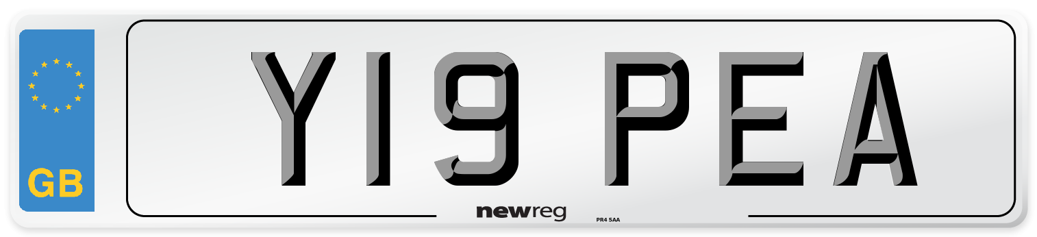 Y19 PEA Number Plate from New Reg