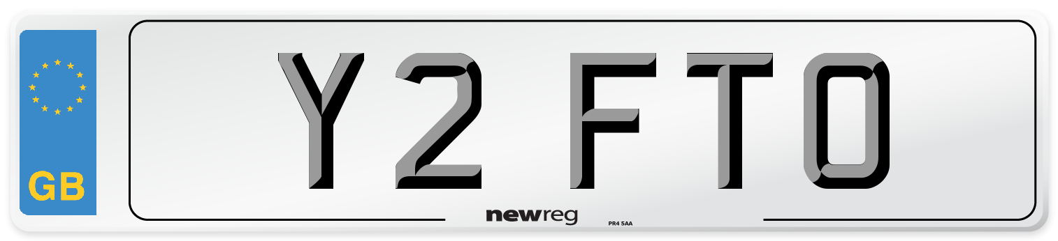 Y2 FTO Number Plate from New Reg