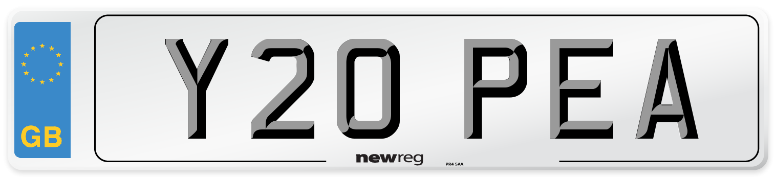 Y20 PEA Number Plate from New Reg