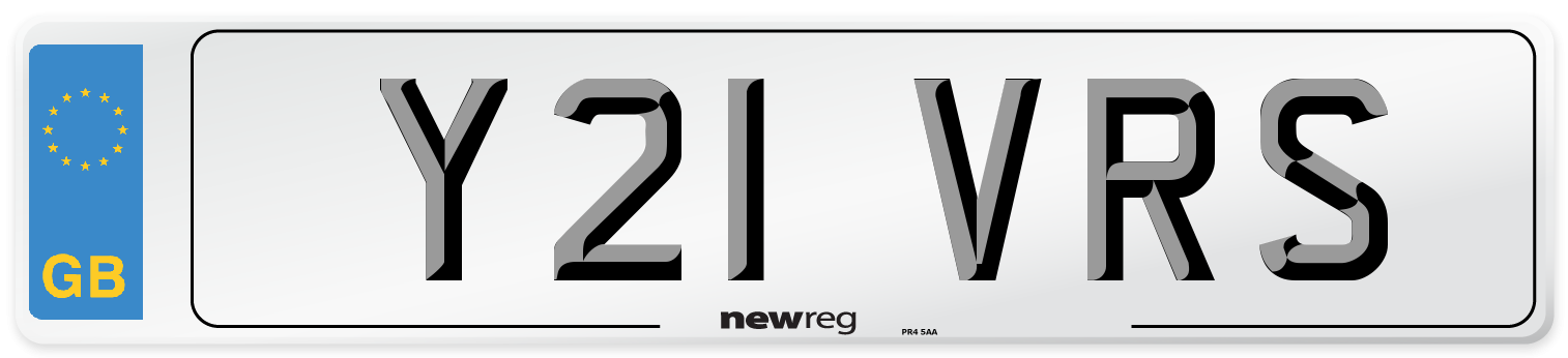 Y21 VRS Number Plate from New Reg