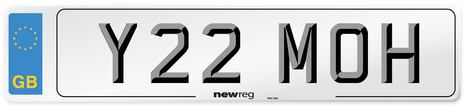Y22 MOH Number Plate from New Reg