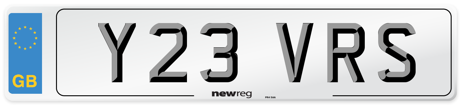 Y23 VRS Number Plate from New Reg