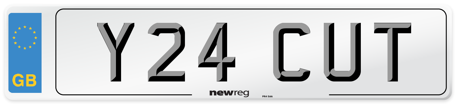 Y24 CUT Number Plate from New Reg