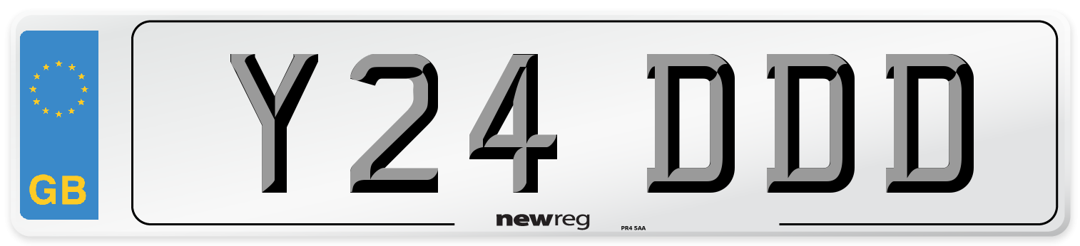 Y24 DDD Number Plate from New Reg