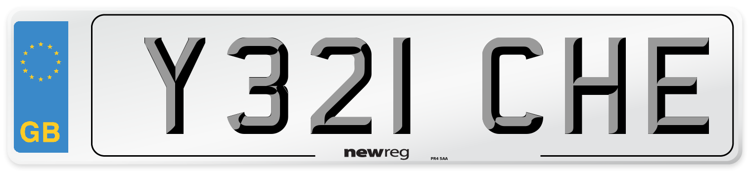 Y321 CHE Number Plate from New Reg