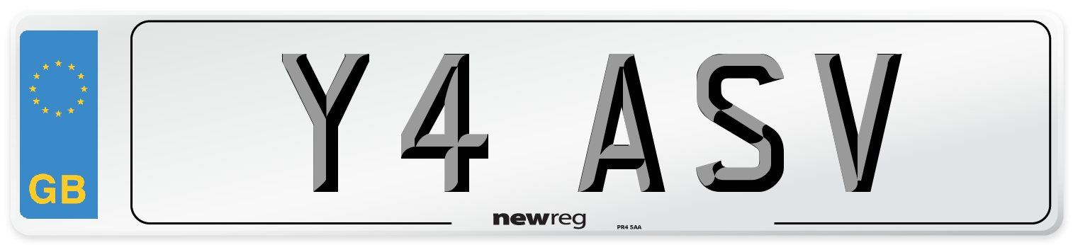 Y4 ASV Number Plate from New Reg