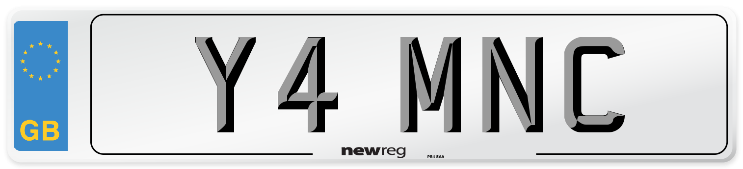 Y4 MNC Number Plate from New Reg