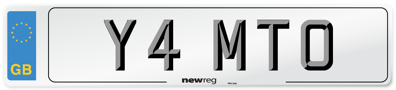 Y4 MTO Number Plate from New Reg