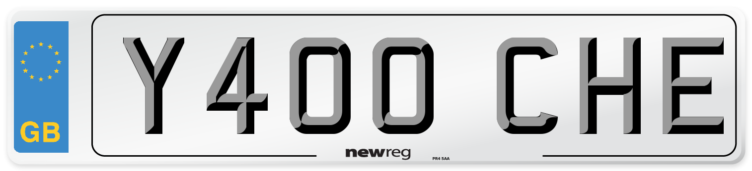 Y400 CHE Number Plate from New Reg