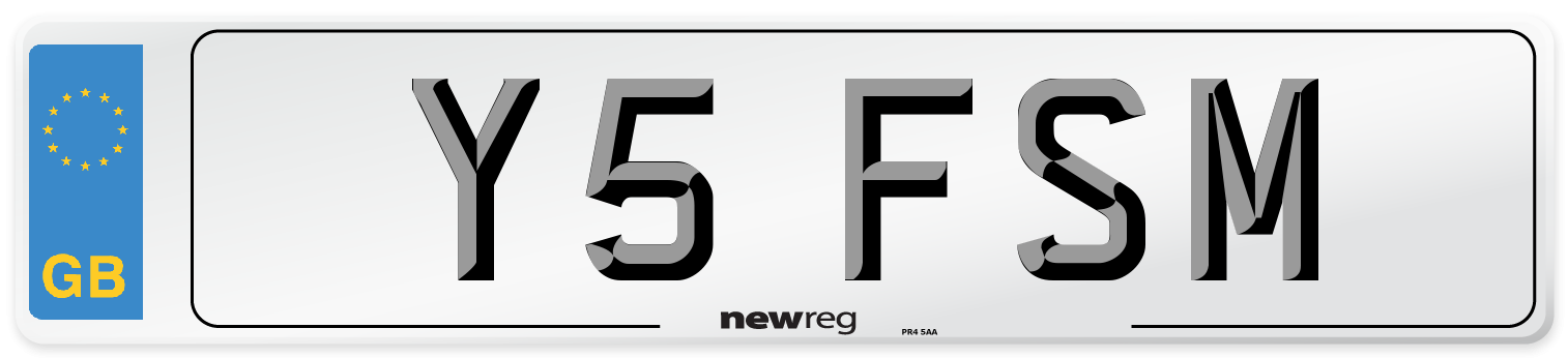 Y5 FSM Number Plate from New Reg