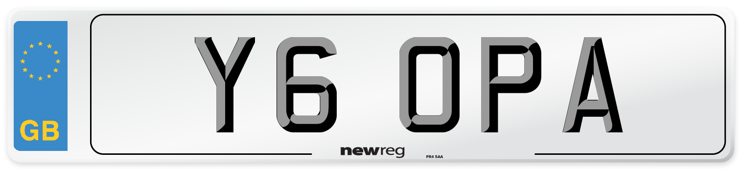Y6 OPA Number Plate from New Reg