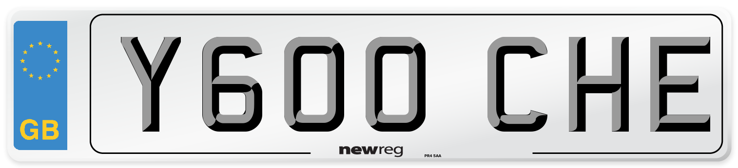 Y600 CHE Number Plate from New Reg
