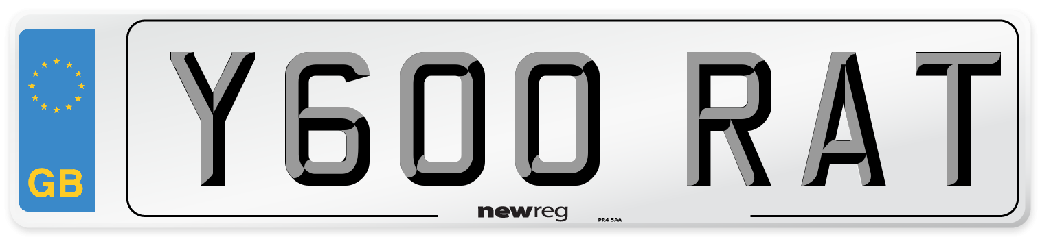 Y600 RAT Number Plate from New Reg