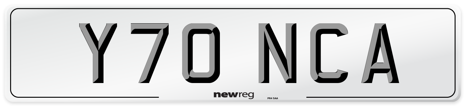 Y70 NCA Number Plate from New Reg