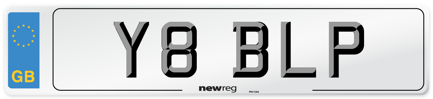 Y8 BLP Number Plate from New Reg