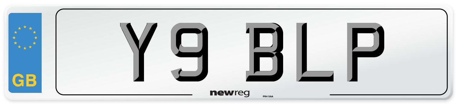 Y9 BLP Number Plate from New Reg