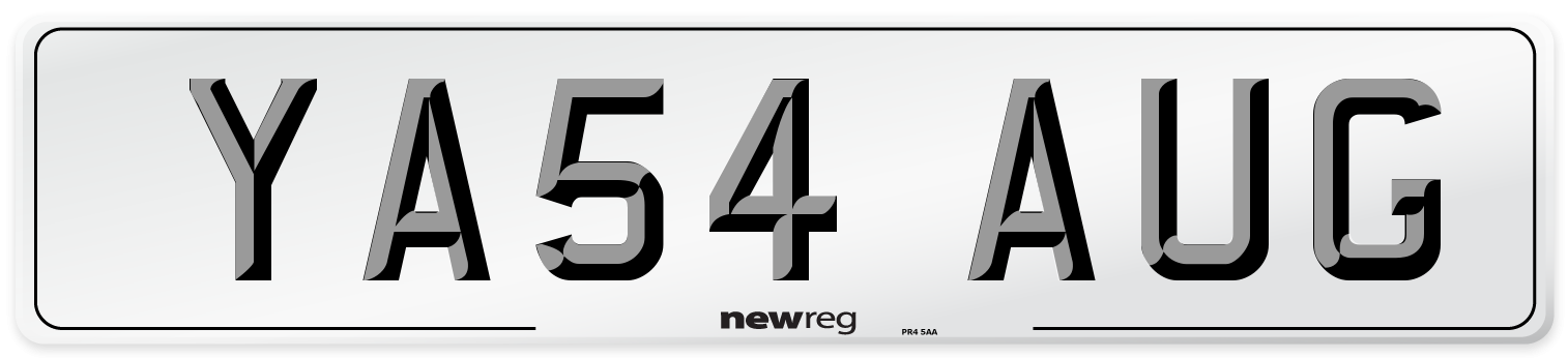 YA54 AUG Number Plate from New Reg