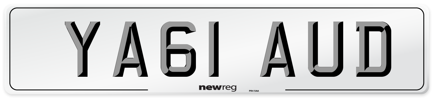 YA61 AUD Number Plate from New Reg