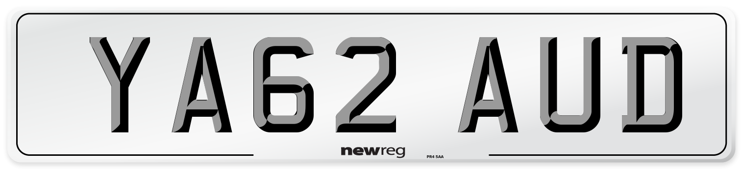 YA62 AUD Number Plate from New Reg