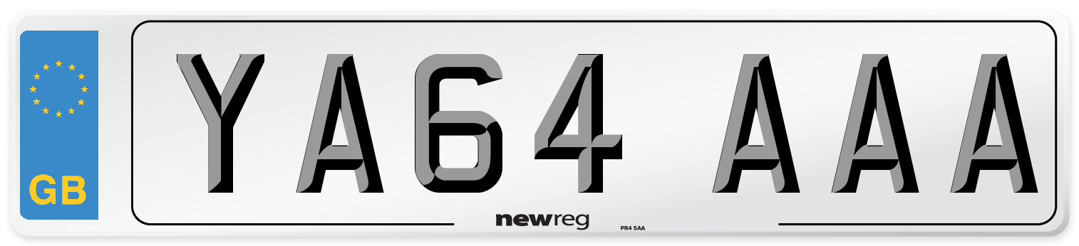 YA64 AAA Number Plate from New Reg
