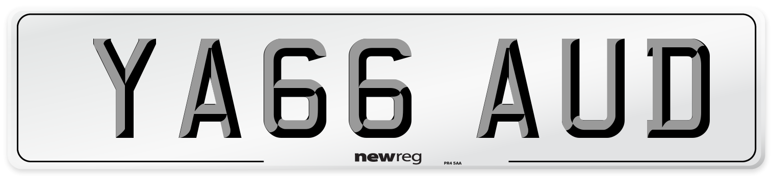 YA66 AUD Number Plate from New Reg