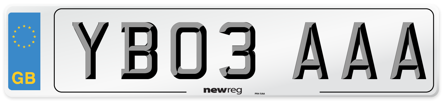 YB03 AAA Number Plate from New Reg