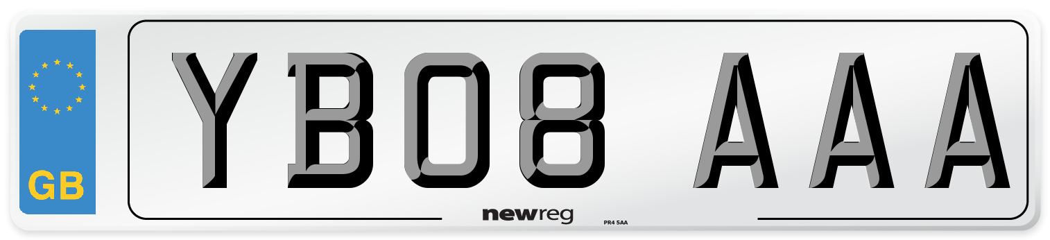 YB08 AAA Number Plate from New Reg