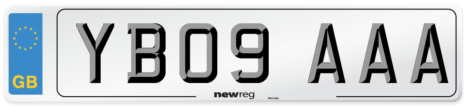 YB09 AAA Number Plate from New Reg