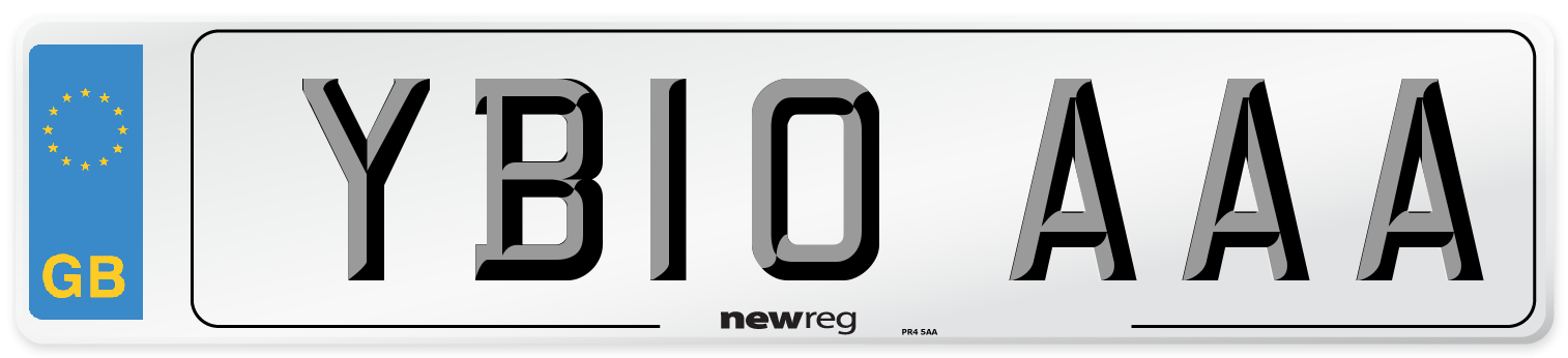 YB10 AAA Number Plate from New Reg