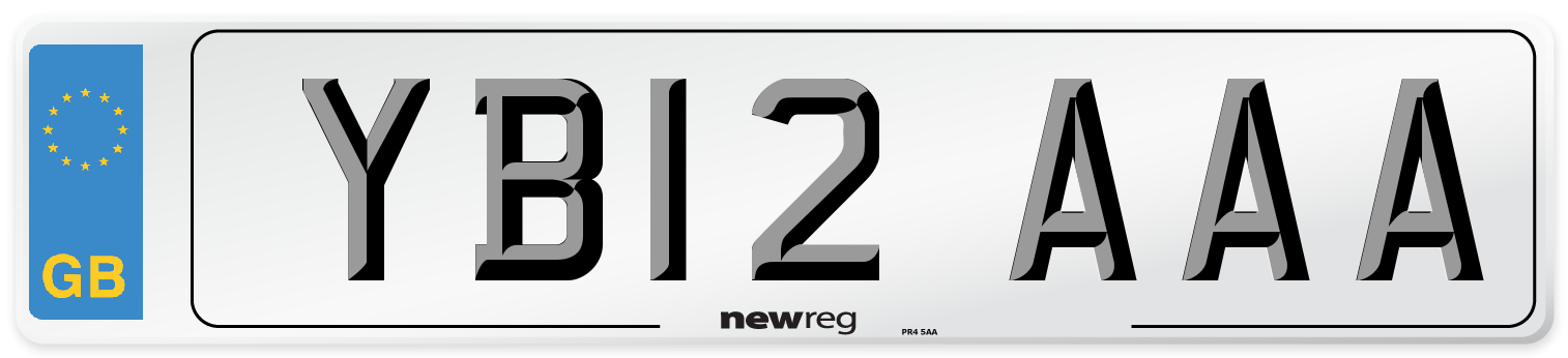 YB12 AAA Number Plate from New Reg