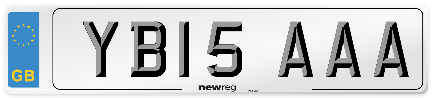 YB15 AAA Number Plate from New Reg