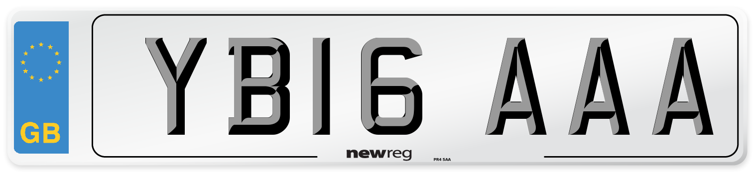 YB16 AAA Number Plate from New Reg
