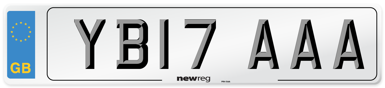 YB17 AAA Number Plate from New Reg