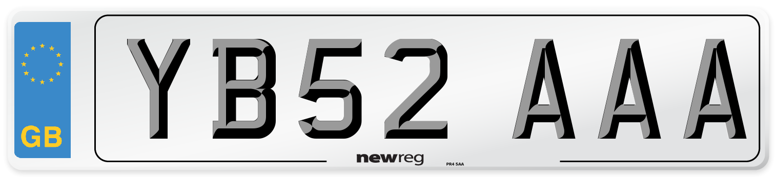 YB52 AAA Number Plate from New Reg