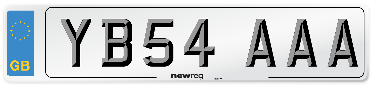 YB54 AAA Number Plate from New Reg