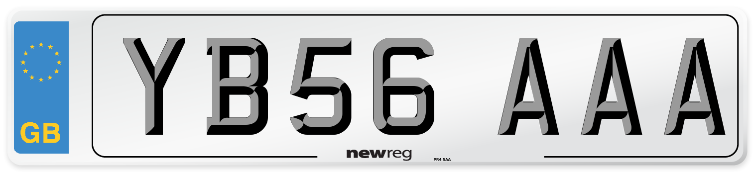 YB56 AAA Number Plate from New Reg