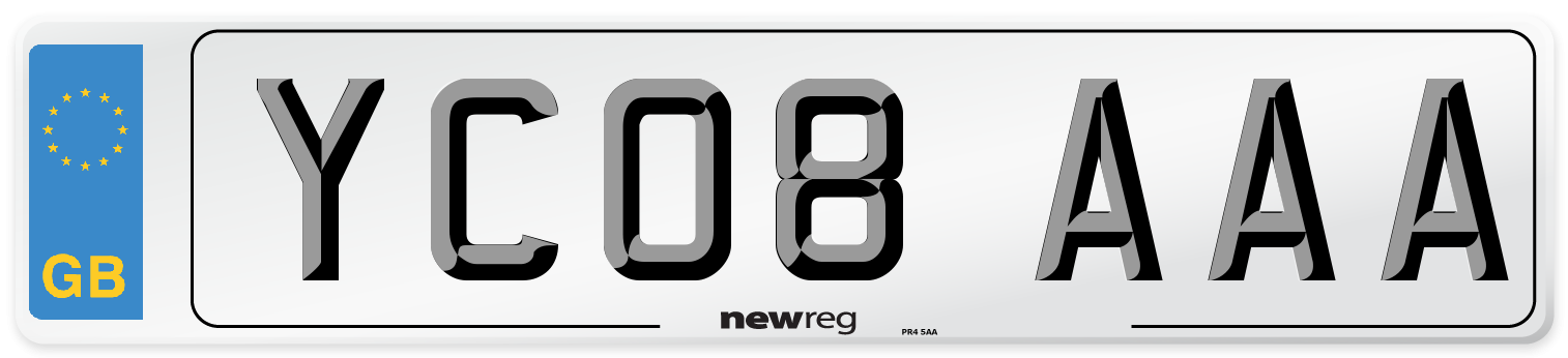 YC08 AAA Number Plate from New Reg