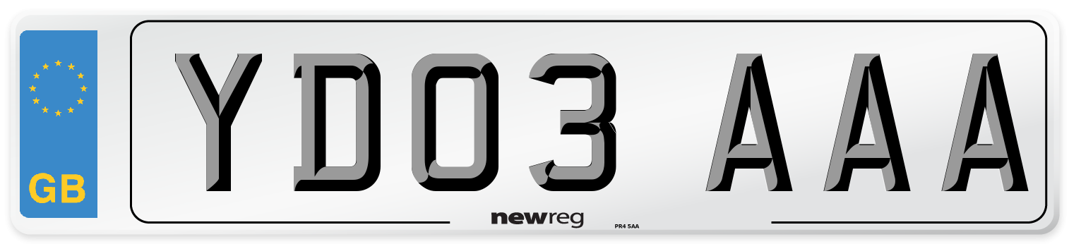 YD03 AAA Number Plate from New Reg