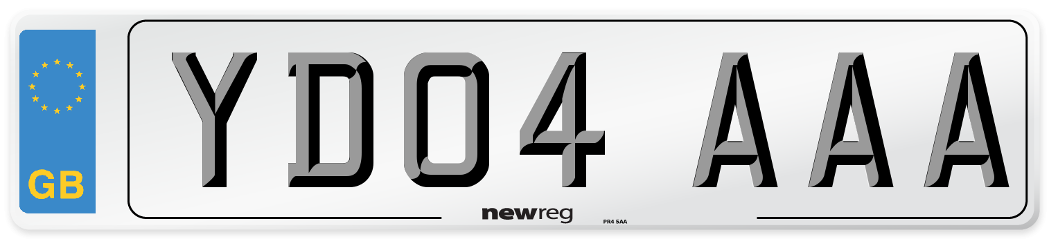 YD04 AAA Number Plate from New Reg