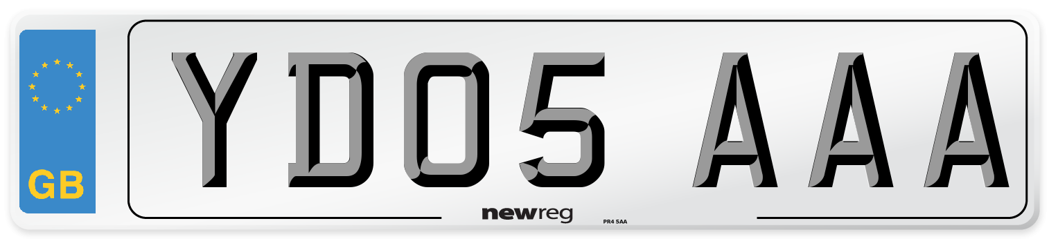 YD05 AAA Number Plate from New Reg