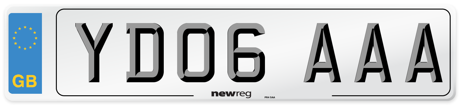 YD06 AAA Number Plate from New Reg