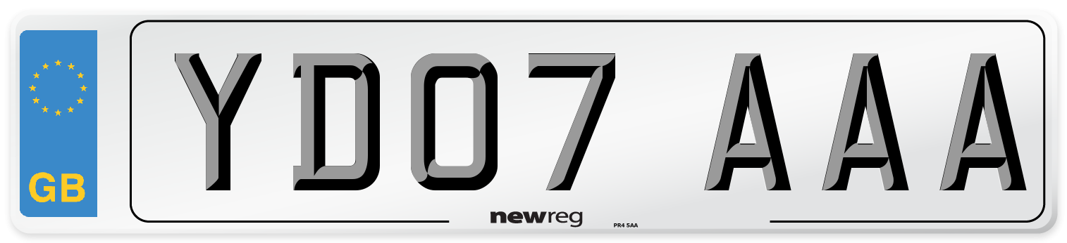 YD07 AAA Number Plate from New Reg