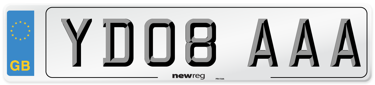 YD08 AAA Number Plate from New Reg