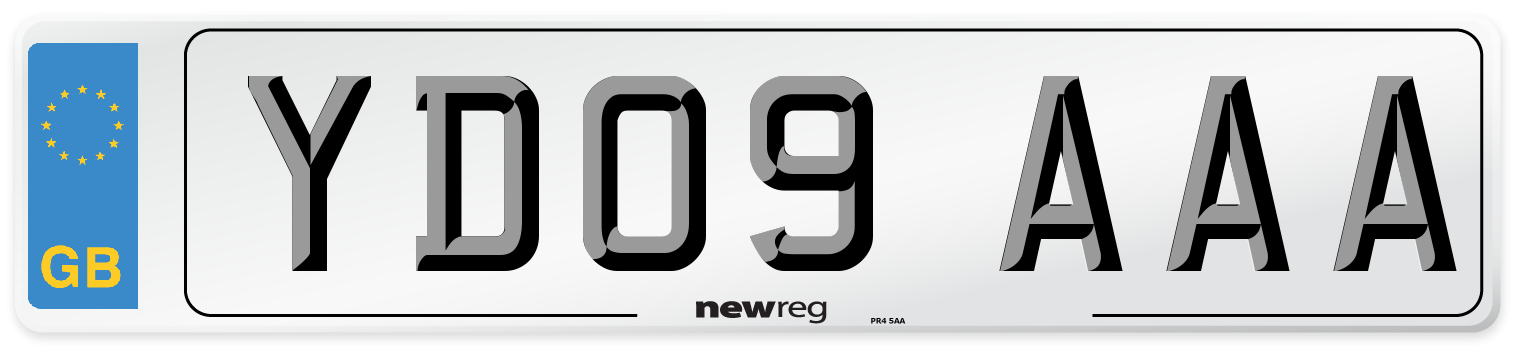 YD09 AAA Number Plate from New Reg