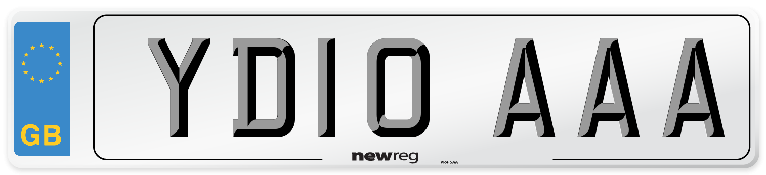 YD10 AAA Number Plate from New Reg